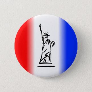 Statue of Liberty New York 6 Cm Round Badge