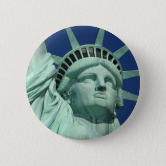 Statue of Liberty, New York 6 Cm Round Badge
