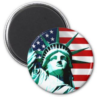 Statue of Liberty, New York 6 Cm Round Magnet