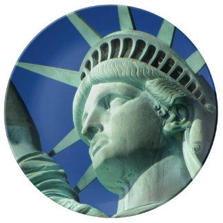 Statue Of Liberty New York America Porcelain Plates