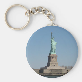 Statue of Liberty, New York Basic Round Button Key Ring