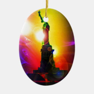 Statue of Liberty New York Ceramic Oval Decoration