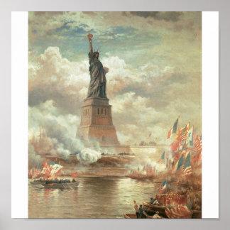 Statue of Liberty New York circa 1800 s Poster