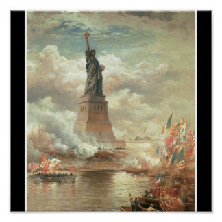 Statue of Liberty New York circa 1800 s Posters