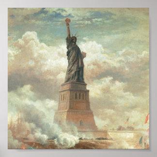 Statue of Liberty New York circa 1800 s Print