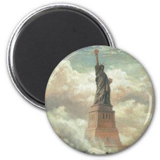Statue of Liberty, New York circa 1800's 6 Cm Round Magnet