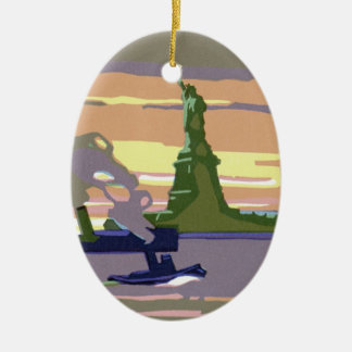 Statue of Liberty, New York City, Vintage Travel Christmas Ornament