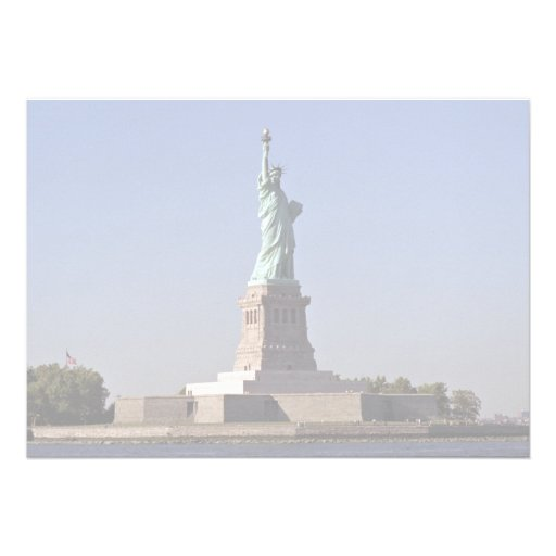Statue of Liberty, New York Harbor, New York City, Custom Invite