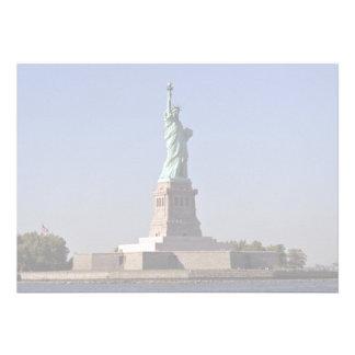 Statue of Liberty New York Harbor New York City Custom Invite