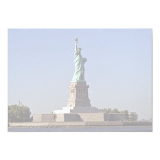 Statue of Liberty, New York Harbor, New York City, 13 Cm X 18 Cm Invitation Card