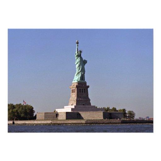 Statue of Liberty, New York Harbor, New York City, Personalized Invites