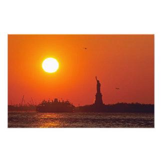 Statue of Liberty, New York Harbor, NY, USA, Art Photo