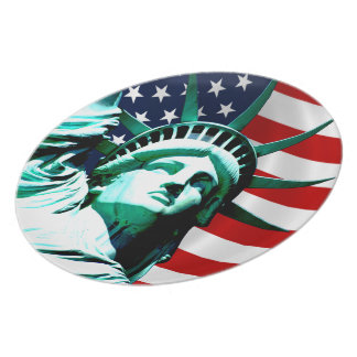 Statue of Liberty, New York Party Plate