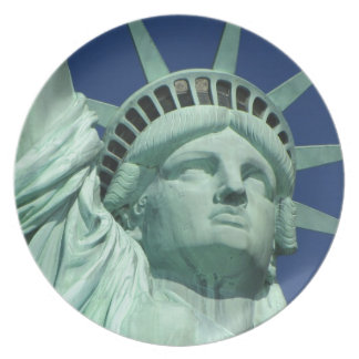 Statue of Liberty New York Party Plate