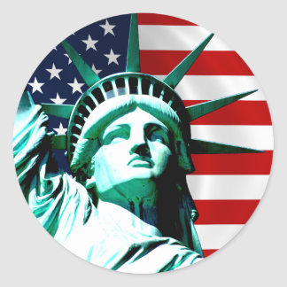 Statue of Liberty, New York Round Sticker