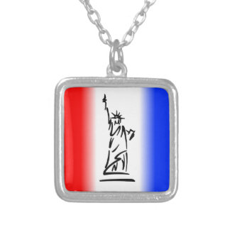 Statue of Liberty New York Silver Plated Necklace