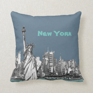 Statue of Liberty New York Throw Pillows