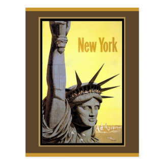 statue of liberty new york travel poster post card