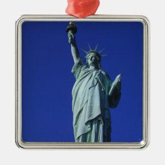 Statue of Liberty, New York, USA 4 Silver-Colored Square Decoration