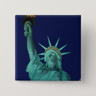 Statue of Liberty, New York, USA 5 15 Cm Square Badge