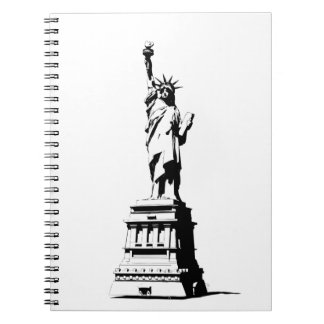 Statue Of Liberty Spiral Notebooks