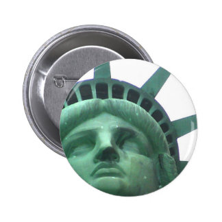 Statue of Liberty Oil Effect 6 Cm Round Badge