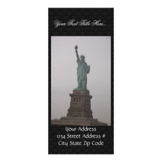Statue Of Liberty On A Hazy Day. Full Color Rack Card