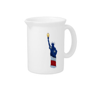Statue of liberty on any color pitcher
