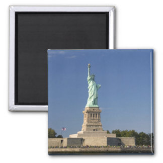Statue of Liberty on Liberty Island in New 2 Square Magnet
