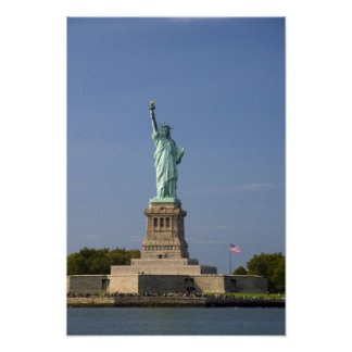 Statue of Liberty on Liberty Island in New Poster