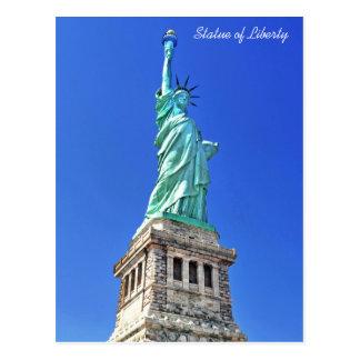 Statue of Liberty on Liberty Island in New York Postcard