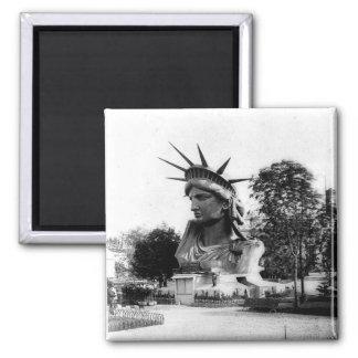 Statue of Liberty Paris France Square Magnet
