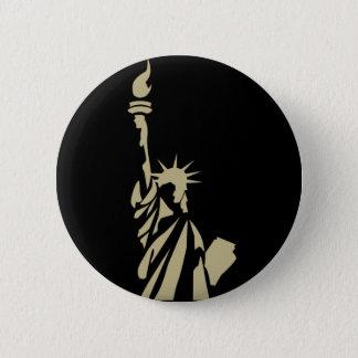 Statue of Liberty - Patriotic 6 Cm Round Badge