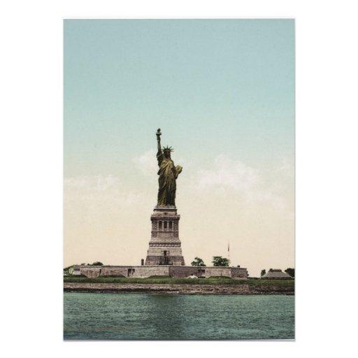 Statue of Liberty photocrom Invites