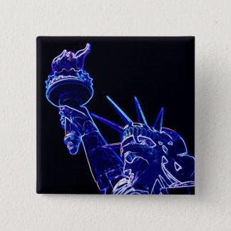 Statue of Liberty Pop Art 15 Cm Square Badge
