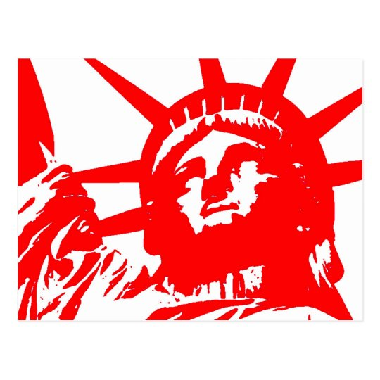 Statue of Liberty Pop Art USA Symbol Postcard