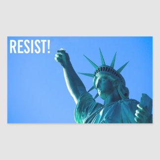 Statue of Liberty Resists Rectangular Sticker