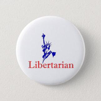 Statue of Liberty -- Retro Libertarian icon 6 Cm Round Badge