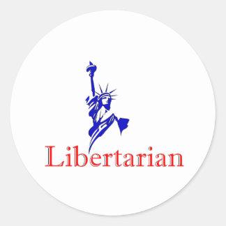 Statue of Liberty -- Retro Libertarian icon Classic Round Sticker