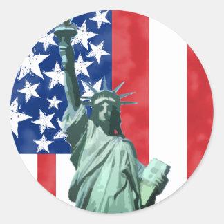 Statue of Liberty Round Sticker