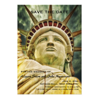 Statue of Liberty Save the Date Announcement