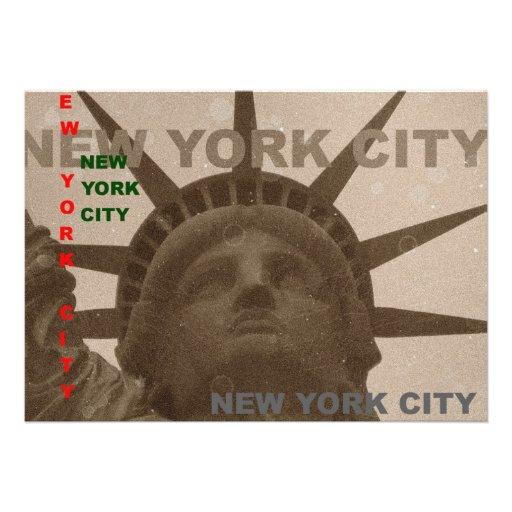 Statue of Liberty Sepia Tones Invitation