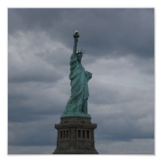 Statue of Liberty Side View Print