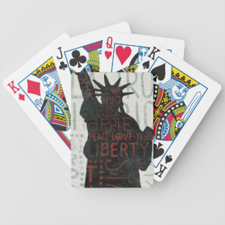 Statue of Liberty Silhouette Bicycle Playing Cards