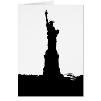 Statue of Liberty Silhouette Greeting Cards