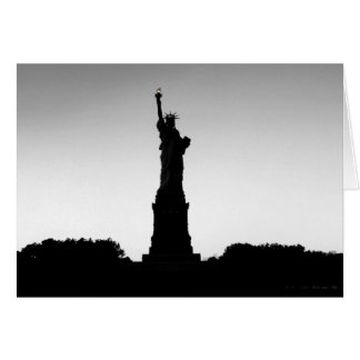 Statue of Liberty silhouette Card