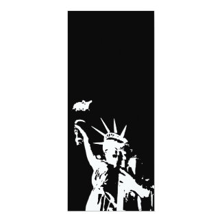 """Statue of Liberty Silhouette Invitation 4"""" X 9.25"""" Invitation Card"""
