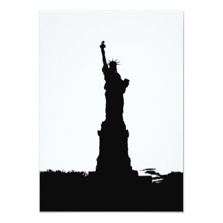 """Statue of Liberty Silhouette Invitation 5"""" X 7"""" Invitation Card"""