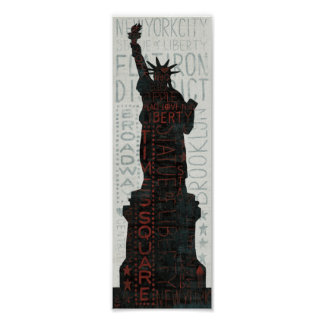 Statue of Liberty Silhouette Posters