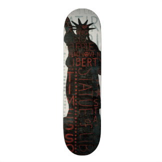 Statue of Liberty Silhouette Skate Board Deck